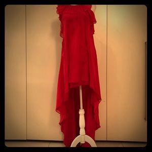 Gorgeous BCBG high low chiffon dress